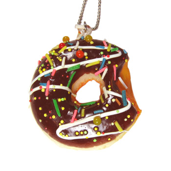 Scented Sprinkled Chocolate Donut Necklace