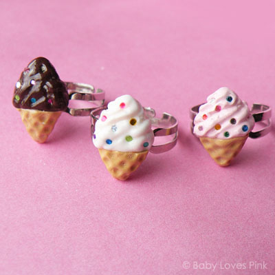 Rainbow Sprinkles Icecream Ring 