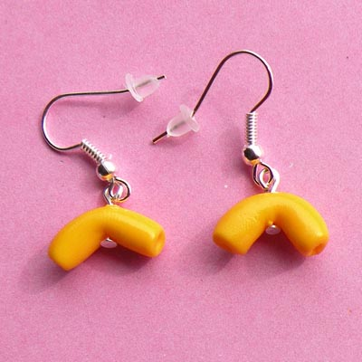 Macaroni and Cheese Earrings