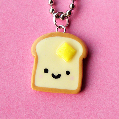 Kawaii Toast Necklace