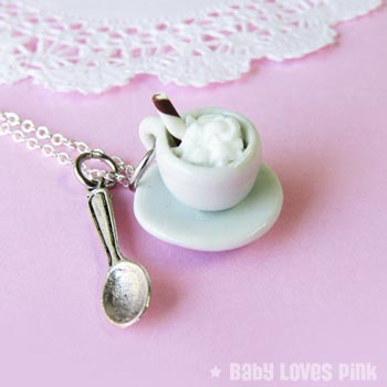 Cappuccino Coffee Necklace