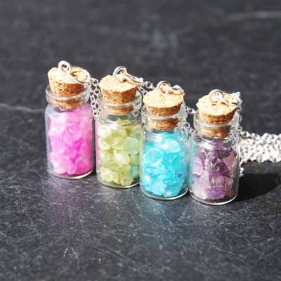 Precious Gemstone - Bottle Necklace
