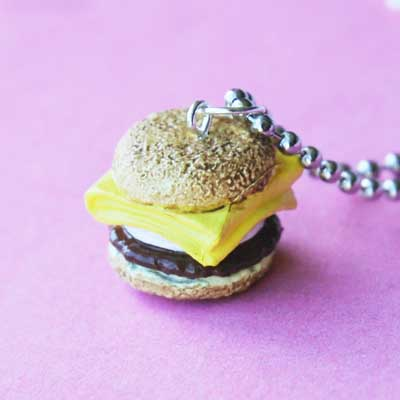 Sausage and Egg English Muffin Breakfast Sandwich Necklace