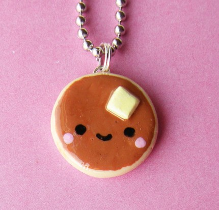 Kawaii Pancake Necklace