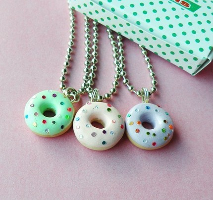 Sparkly Donut Necklaces