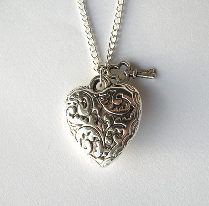 Sweet Heart and Key Necklace