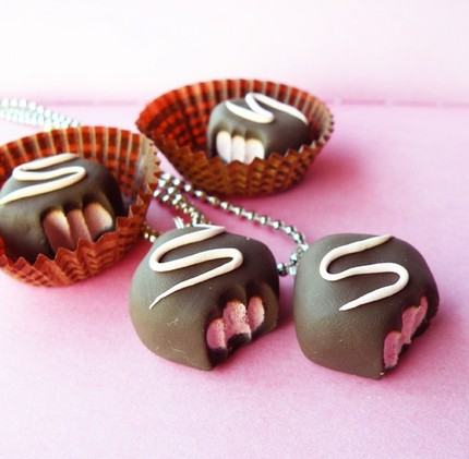 Strawberry Truffle Necklace