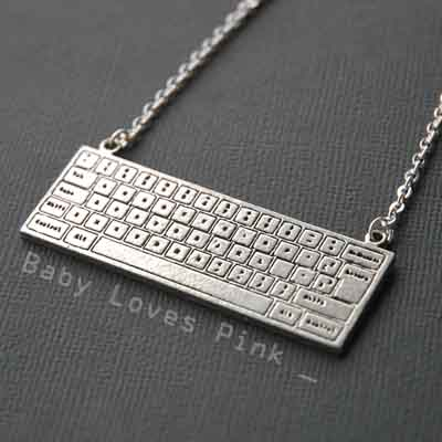 Keyboard Necklace for Computer Nerd