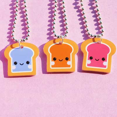 Peanut Butter and Jelly Best Friend Necklace