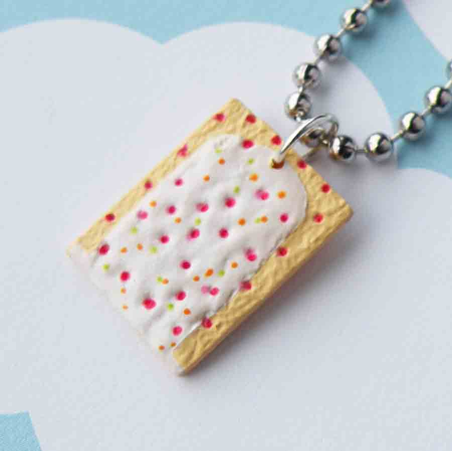 Strawberry Poptart Necklace