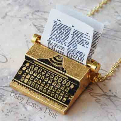 Typewriter Necklace