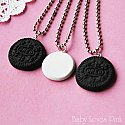 Chocolate Cookie Sandwich Best Friends Necklace - Set of 3