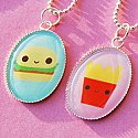 Burger and Fries BFF Friendship Necklace