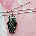 Silver Wise Owl Necklace