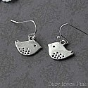 Silver Bird Earrings - Baby Sparrow