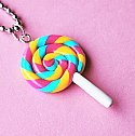 Sweet Rainbow Lollipop Necklace