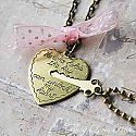 Key to My Heart - Heart and Key Couple&#039;s Necklace