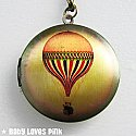 Hot Air Balloon Locket Necklace