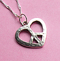 Love and Peace - Silver Necklace