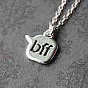 Best Friends 'BFF' Chat Text - Sterling Silver Necklace