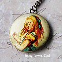 Alice in Wonderland 'Drink Me' Locket Necklace