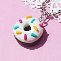 Rainbow Sprinkled Donut Necklace