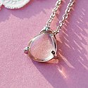 Angel's Tear - Translucent Teardrop Necklace
