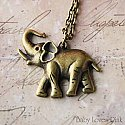 Bronze Elephant Necklace