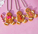 Happy Holiday Gingerbread Man Necklace