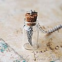 Take Me Away - Wing in a Bottle Necklace