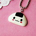 Kawaii Onigiri Rice Ball Necklace
