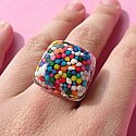 Bubbly Rainbow Sprinkles Ring