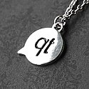 Cutie 'qt' Chat Text - Sterling Silver Necklace