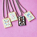 4x BFF Poptart Necklace