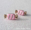 Sweet Pink Candy Stud Earrings