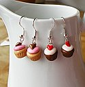 Chocolate Cupcake Earring
