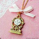 Fairy Tale Antique Clock Necklace