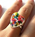 Mini Rainbow Heart Ring
