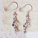 My Secret Keeper - Silver Key Earrings