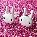 White Bunny Earrings