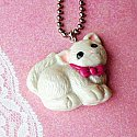 Pink Ribbon Kitty Necklace