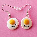 Kawaii Fried Egg Earrings