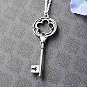 Mysterious Silver Key Necklace