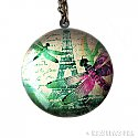 Dragonfly and Eiffel Tower Necklace - Brass Photo Locket