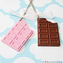 Kawaii Chocolate Mirror Necklace