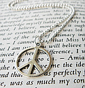 PEACE - Silver Necklace
