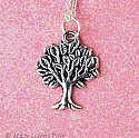 Silver Apple Tree Necklace