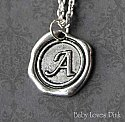 Custom Stamped Wax Seal Necklace