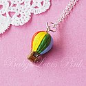 Rainbow Hot Air Balloon Necklace