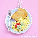 Healthy Egg and Toast Breakfast Necklace